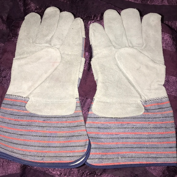 SAFETY/WORK LEATHER GLOVES 🧤